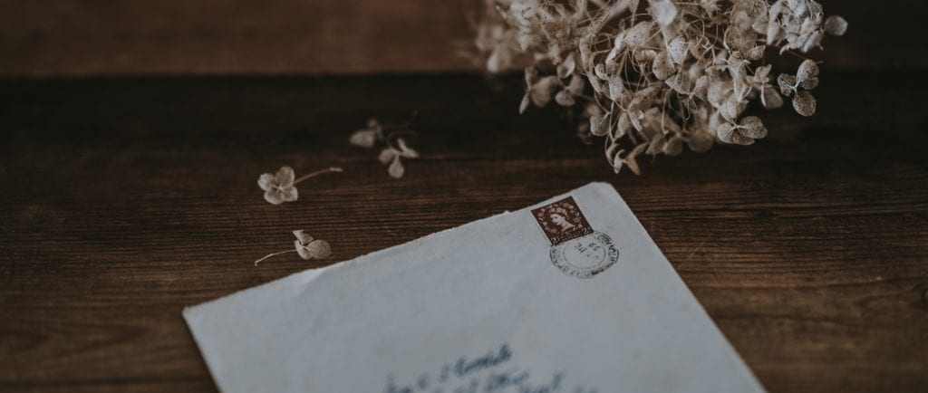 Hand-addressed letter